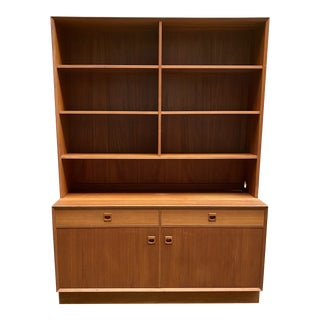 Erik Brouer Danish Modern Teak Bookcase For Sale