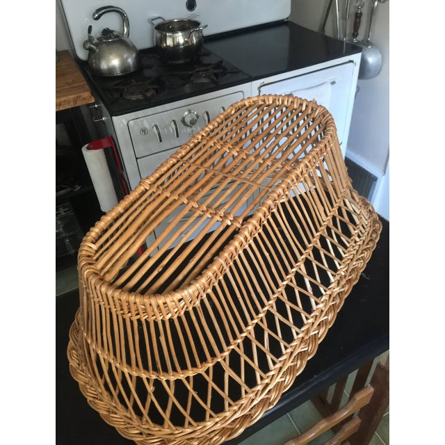 Mid 20th Century Vintage Mid-Century French Laundry Basket For Sale - Image 5 of 7