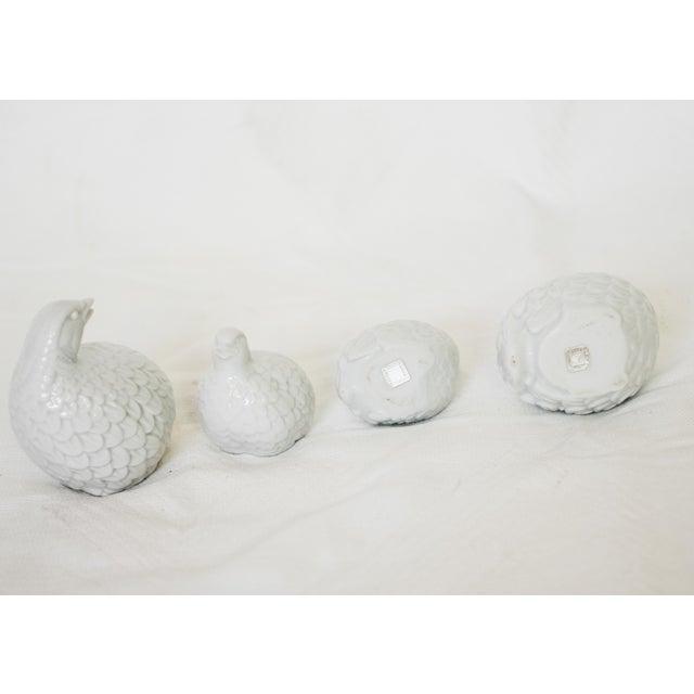 Vintage Porcelain Quails - Set of 4 For Sale - Image 4 of 4