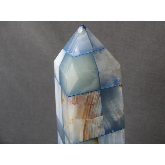 Blue & Brown Onyx Obelisk - Image 5 of 7
