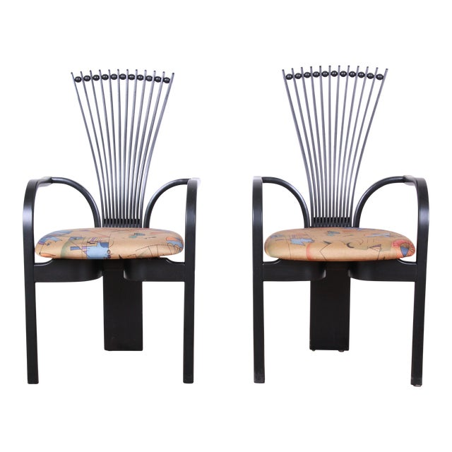 "Torstein Nilsen for Westnofa Scandinavian Modern ""Totem"" Armchairs - a Pair For Sale"