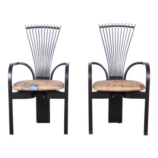 "Torstein Nilsen for Westnofa Scandinavian Modern ""Totem"" Armchairs, Pair For Sale"