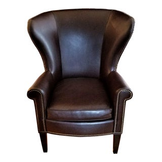 Leather Chair by Mitchell Gold For Sale