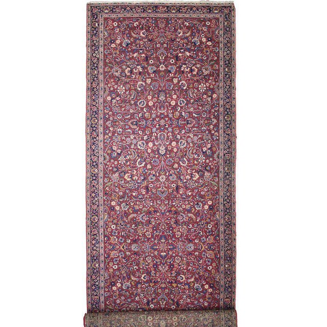 Antique Persian Mashad Extra Long Hallway Runner- 5'7 X 22'00 For Sale - Image 9 of 9