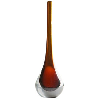 Sommerso Murano Glass Vase For Sale
