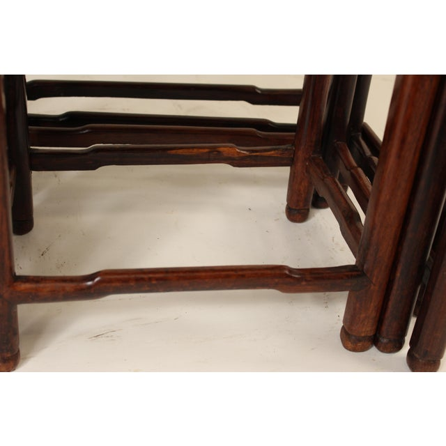1930s Chinese Nesting Tables - Set of 3 For Sale - Image 10 of 13