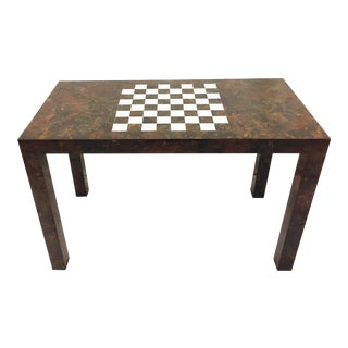 Vintage Checker Board Top Table For Sale