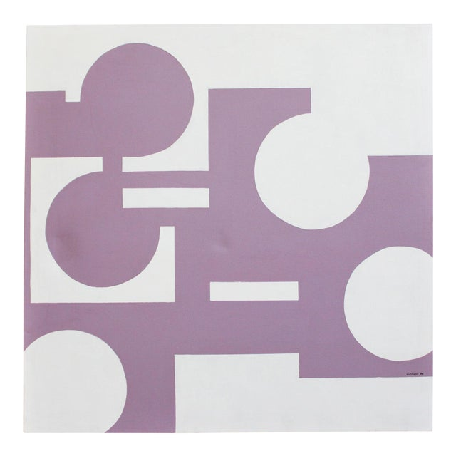 Abstract Geometric Painting 1974- 40x40 For Sale