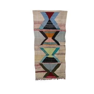 "Kilim Boucherouite, 3'11"" X 8'2"" Feet For Sale"