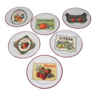 Vintage Williams-Sonoma Appetizer Plates - Set of 6 For Sale