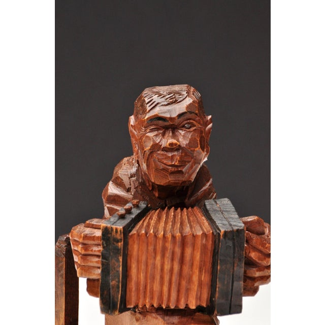 Accordion Player in German Expressionist Style For Sale - Image 9 of 11