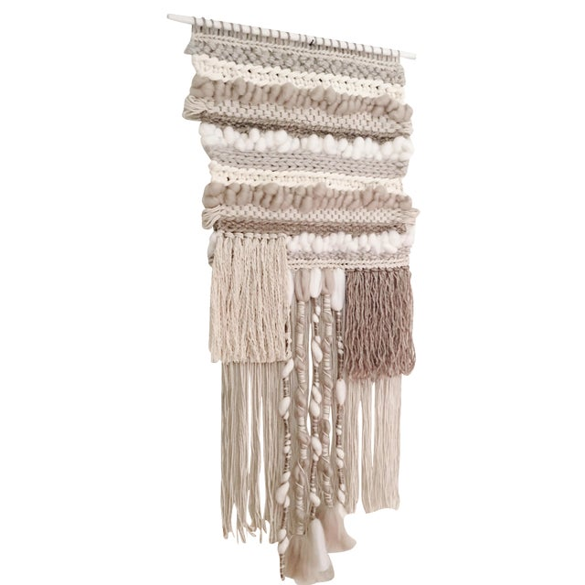 Willow Brooke Neutral Woven Wall Hanging - Image 1 of 4
