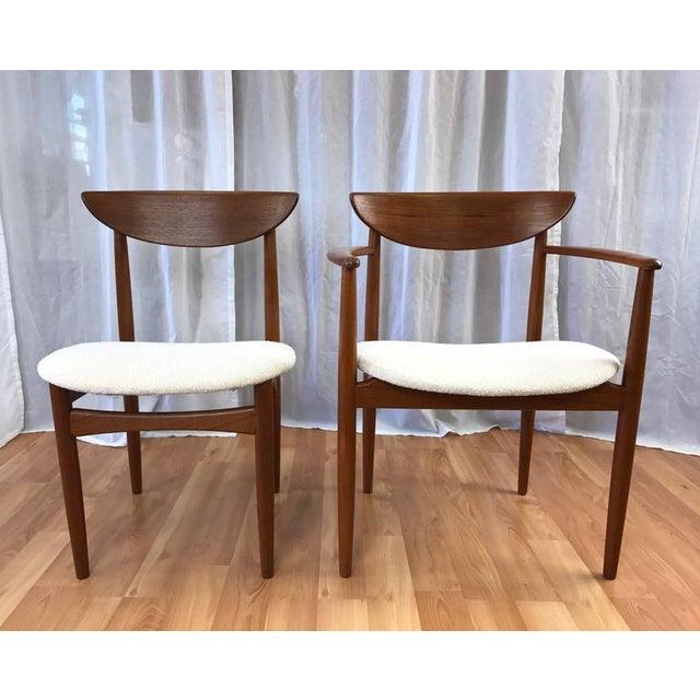 Set of 7 Uncommon Hvidt and Mølgaard-Nielsen Teak Dining Chairs for Søborg Møbelfabrik - Image 2 of 10