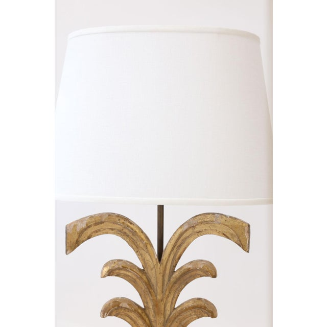Gilded Custom Table Lamp For Sale In Houston - Image 6 of 9