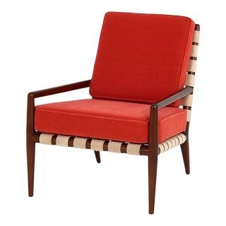 t.h. Robsjohn Gibbings Widdicomb Strap Lounge Chair For Sale