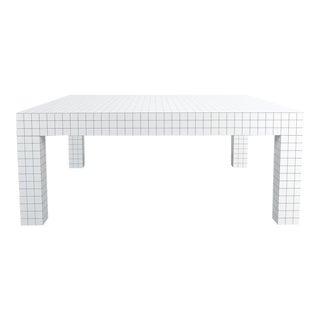 Quaderna White Grid Coffee Table Superstudio for Zanotta, 1970s, Italy For Sale