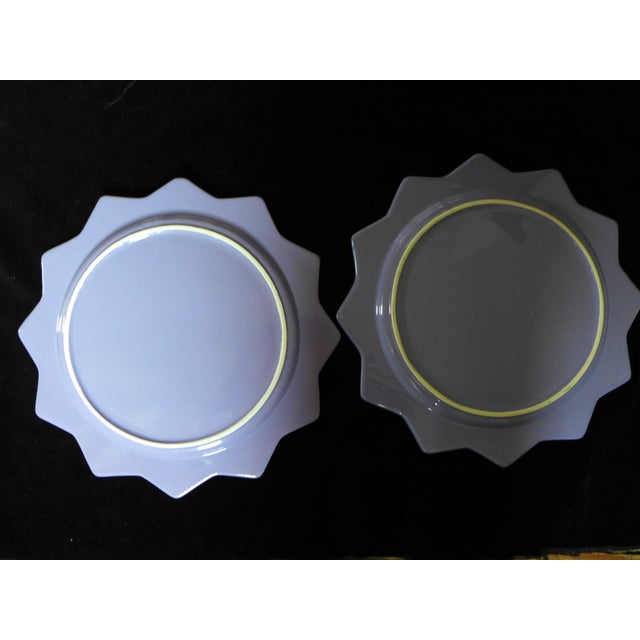 Purple Ceramic Serving Platters - A Pair - Image 6 of 6