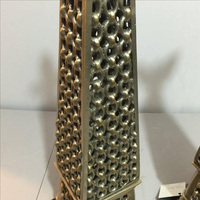 John Richard Metal Obelisks - A Pair For Sale - Image 5 of 6