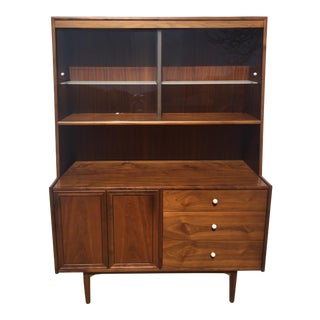 1950's Mid-Century Modern Drexel Declaration Walnut Display Case