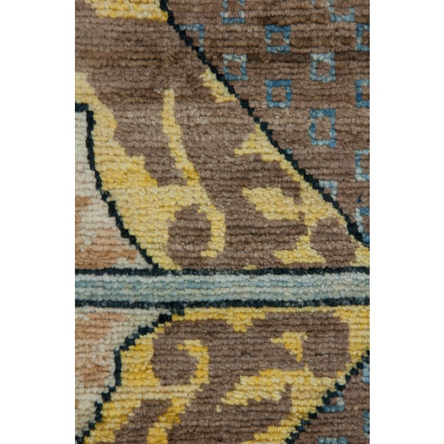 """Arts & Crafts Arts & Crafts Hand Knotted Area Rug - 4'10"""" X 7'7"""" For Sale - Image 3 of 3"""