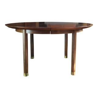 1950s Mid Century Modern Baker Michael Taylor Dining Table For Sale