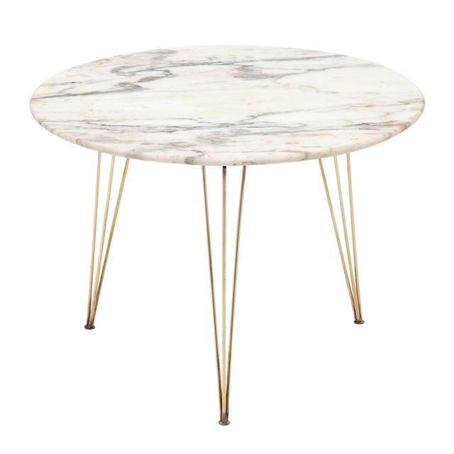Vintage Mid-Century Italian Marble Top Table For Sale - Image 10 of 10