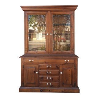 1970s Traditional China Cabinet For Sale
