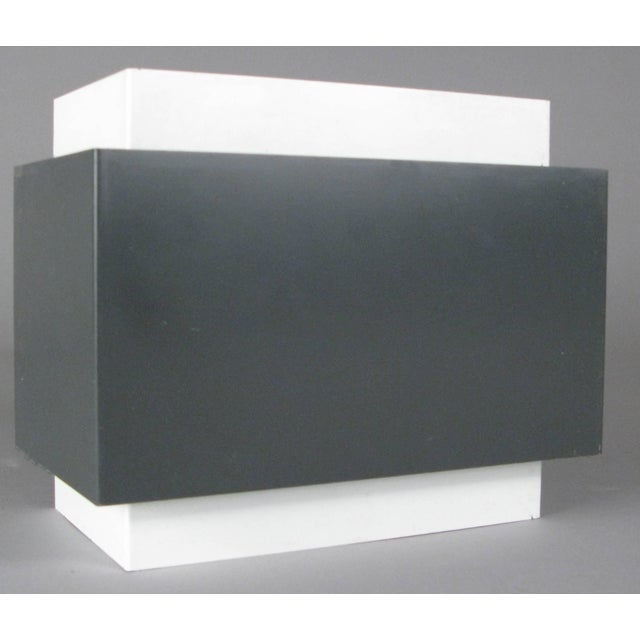 Mid-Century Modern Pair of 1970s Louvered Cube Wall Sconces by Lightolier For Sale - Image 3 of 10