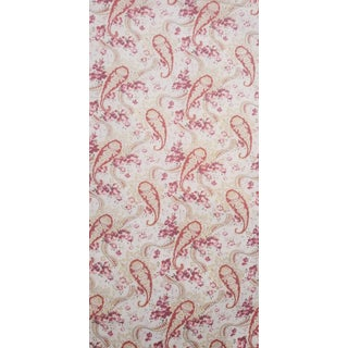 1960s 5 Yards Soft Paisley Cotton Fabric For Sale