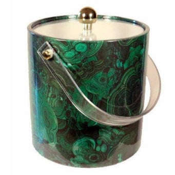 Malachite Fabric Coated Ice Bucket - Image 1 of 3