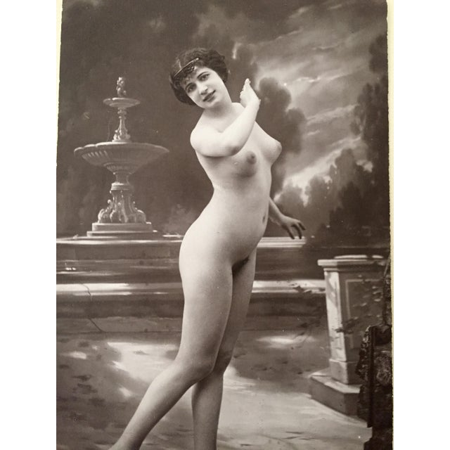 French Antique French Studio Nude Female Photograph C1900 For Sale - Image 3 of 6