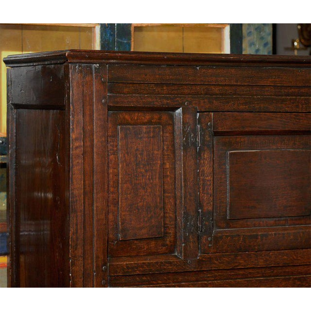 Traditional Early 19th Century Welsh Oak and Elm Cabinet For Sale - Image 3 of 4