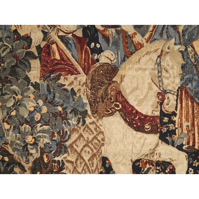 Medieval Style Tapestry from France, 20th Century For Sale - Image 9 of 12