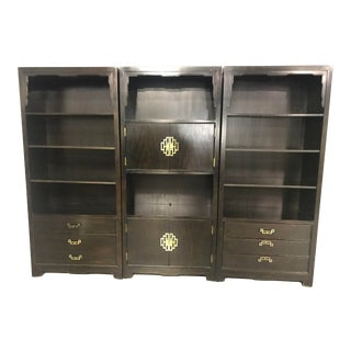 Vintage 3 Pieces Century Furniture Asian Cabinets For Sale