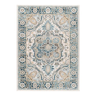 Peyton Aniyah Traditional Medallion Area Rug - 5' x 8' For Sale