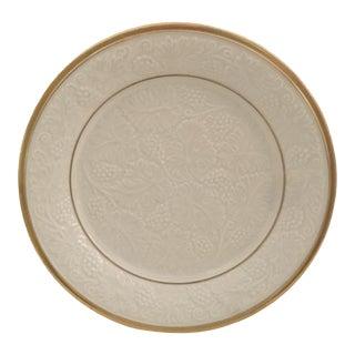 1980s Lenox 14 Kt Gold Trim Round Grape Platter For Sale