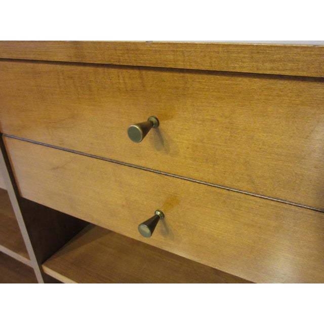 Mid 20th Century Paul McCobb Planner Group Maple 2 Pc. Bookcase For Sale - Image 5 of 9