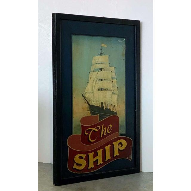 "English Vintage English Pub Sign, ""The Ship"" For Sale - Image 3 of 13"
