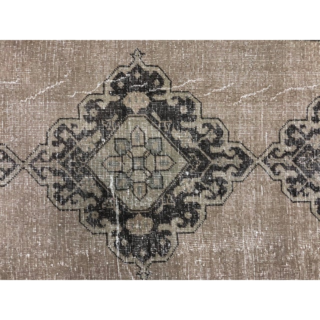 Textile Oushak Handknotted Tribal Runner Rug - 2′9″ × 11′4″ For Sale - Image 7 of 8
