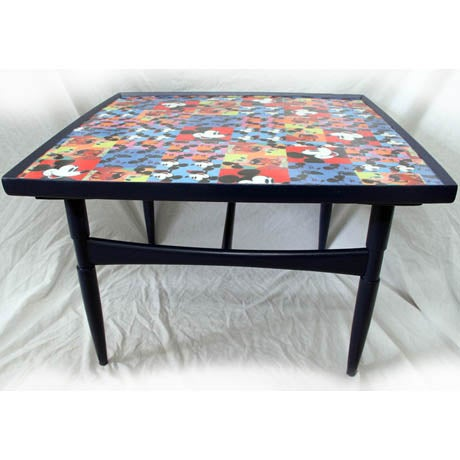 Mid-Century Modern Mickey Mouse Mid-Century Coffee Table For Sale - Image 3 of 3