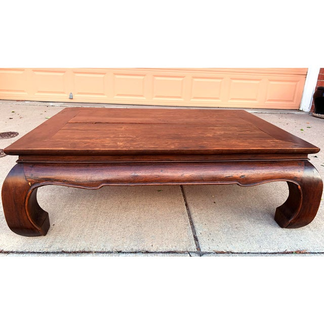 Wood Vintage Thai Opium Bed Style Lanna Coffee Table For Sale - Image 7 of 7