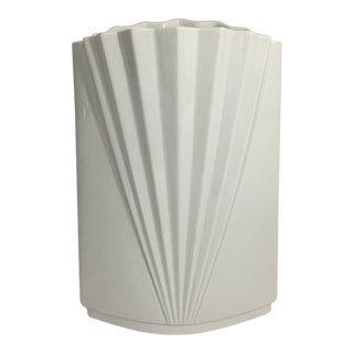 White Art Deco Style Vase Mikasa For Sale