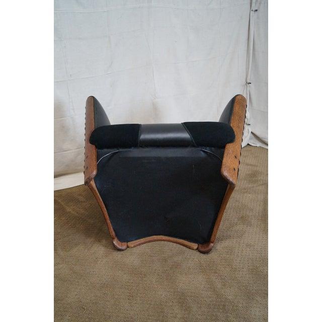 Brazilian Walnut Wing Lounge Chair - Image 8 of 10