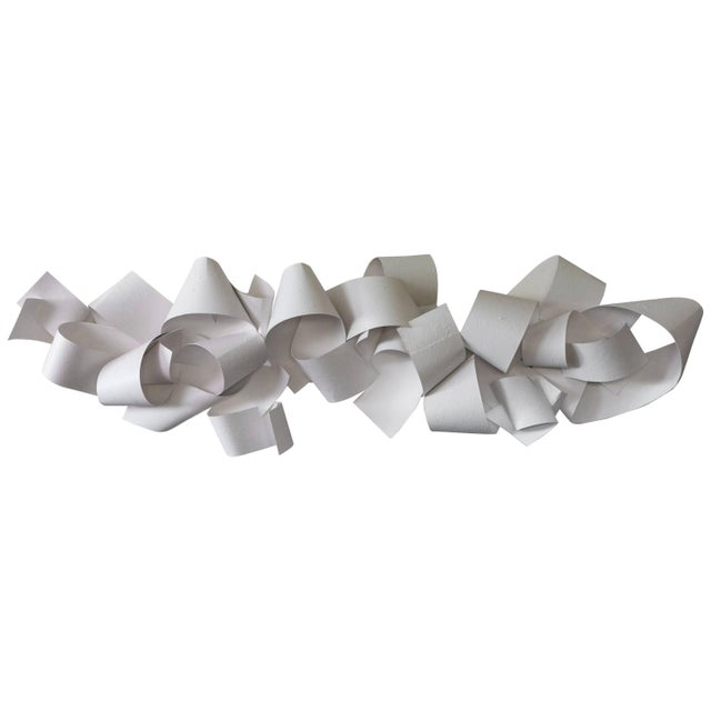 21st century white wall paper or plaster sculpture by Aimee Wise Sculpture in sections for options for installation.
