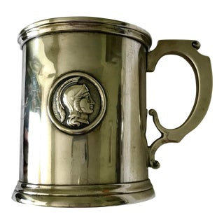 1865 American Coin Silver Medallion Cup/Mug by Albert Coles For Sale