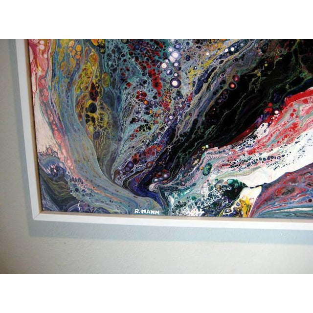 Richard Mann A Pair of Abstract Compositions by California Artist Richard Mann For Sale - Image 4 of 7