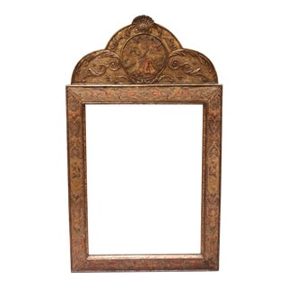 A William and Mary Style Tapestry Mirror C. 1900 For Sale