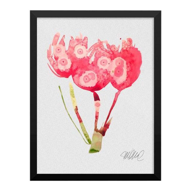 Framed Pink Botanical Print - Image 1 of 3