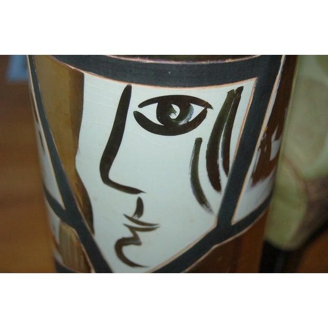 Marbro Italian Porcelain Floor Lamp Gold For Sale In Little Rock - Image 6 of 12
