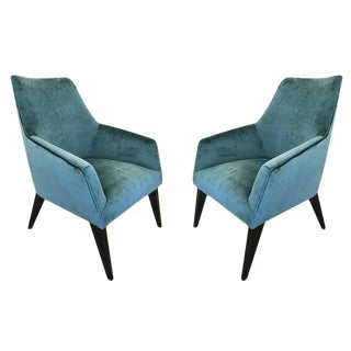 Pair of Italian Modern Armchairs For Sale